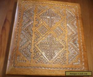 small vintage carved wooden box for Sale