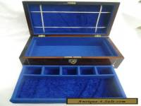 ANTIQUE ROSEWOOD JEWELLERY BOX WITH MOP AND SLIVER STRINGING
