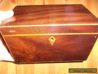 Antique    wooden tea caddy box