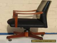 GUNLOCKE MID CENTURY DANISH MODERN WALNUT OFFICE ARM CHAIR ~ UGA SEC