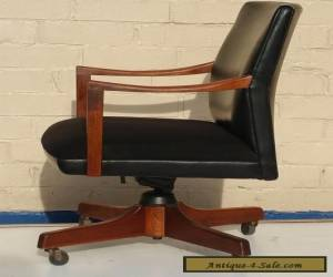 GUNLOCKE MID CENTURY DANISH MODERN WALNUT OFFICE ARM CHAIR ~ UGA SEC for Sale