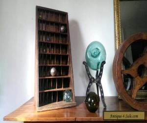 Antique Angled Oak Letterpress Furniture Cabinet Hamilton Cupboard Display Type for Sale