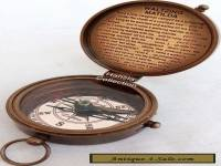 SOLID BRASS POCKET COMPASS~VINTAGE VICTORIAN DOLLOND LONDON COMPASS