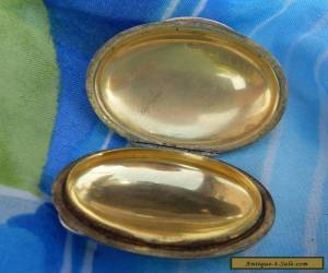 Vintage Tiffany & Co Sterling Pillbox Or Compact Shell Art Deco Design Signed for Sale