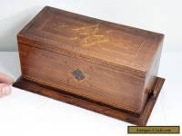 Stunning Inlaid Wooden Original Vintage Cigarette Box - Quality Craftsmanship.