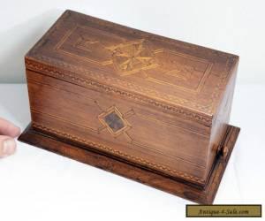 Stunning Inlaid Wooden Original Vintage Cigarette Box - Quality Craftsmanship. for Sale