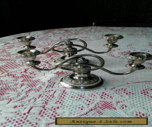 Pair of silver plated candle holders for Sale
