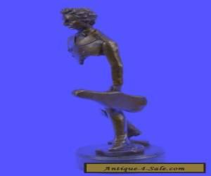 Johann Strauss Art Deco Bronze Abstract Sculpture Statue Signed Original Figure for Sale