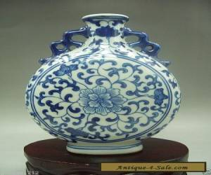 Antique collection, handmade Chinese blue and white porcelain vase for Sale