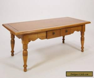 Vintage Maple Coffee Table W/ Single Drawer Colonial Style Furniture for Sale