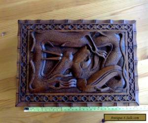 large vintage hand-carved wooden 'Dragon' box for Sale