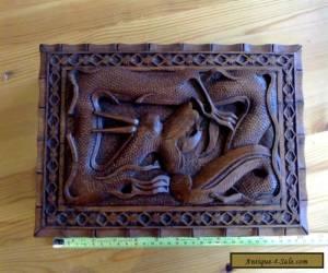 large vintage hand-carved wooden 'Dragon' box for Sale