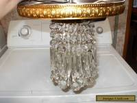 VINTAGE CEILING PENDANT LIGHT ITALIAN CRYSTAL CHANDELIER