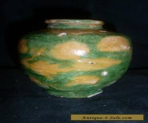 Very Small Very Early Chinese Sancai Glaze Pot for Sale