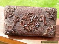 ANTIQUE VICTORIAN CARVED WOODEN BOX LOVELY ORNATE BIRD & FLORA DESIGN