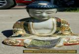 19thc ANTIQUE EARTHENWARE JAPANESE SATSUMA PORCELAIN BUDDHA GOD STATUES for Sale