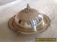 Antique Silver Serving Plater and Cover