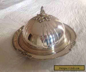 Antique Silver Serving Plater and Cover for Sale
