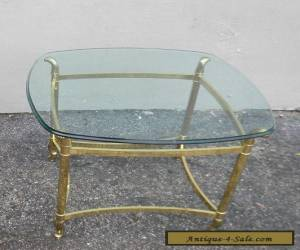 Mid-Century Brass Glass-Top Side Table #2888A for Sale