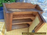 Antique Oak Medicine Cabinet With Mirror