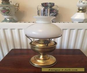 Small vintage brass oil lamp with shade Working order for Sale