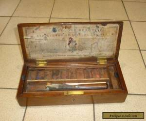 A Victorian Mahogany Artists Paint Box by Charles Roberson & Co c1880 for Sale