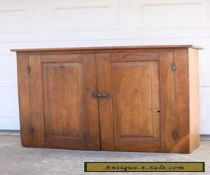 Antique Primitive 19th Century Wood Cabinet for Sale