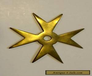 Vintage Brass Malta Star for Sale