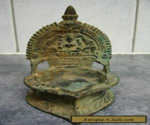 ANTIQUE BRONZE OIL LAMP INDIA for Sale