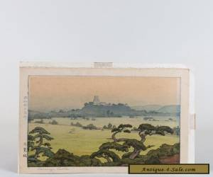"Toshi Yoshida Signed Japanese Woodblock Print - ""Shirasagi Castle""  for Sale"