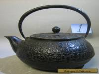 Vintage antique Japanese handmade cast iron teapot. RARE