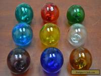 "8 PCS REPRODUCTION GLASS FLOAT FISHING BALL 3"" **PICK YOUR COLORS**"