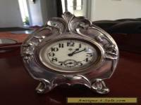 Antique Mantle Silver Clock