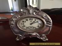 Antique Mantle Silver Clock