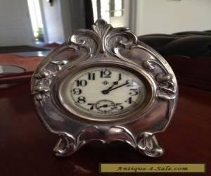 Antique Mantle Silver Clock for Sale