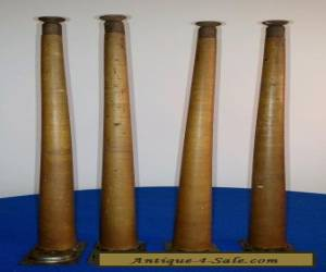 "Mid Centure Modern Wood Furniture Legs 20 1/2"" Lot Of 4 for Sale"