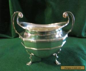 Antique Sterling Silver Sugar Bowl ,11 cm by 8cm oval 2 handled ,JD&S LOND,1897 for Sale