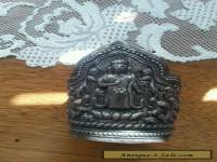 BEAUTIFUL VERY OLD CHINESE SILVER BUDDHA CUFF
