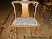 Oak T Back Chair Dining Room Turn of Century