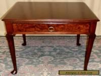 BAKER BURLED WALNUT TABLE End, Side w/ Drawer VINTAGE