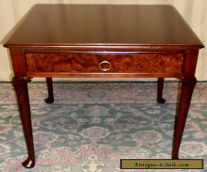 BAKER BURLED WALNUT TABLE End, Side w/ Drawer VINTAGE for Sale