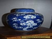 ANTIQUE LARGE CHINESE PRUNUS & HAWTHORN VASE/ JAR-19thC
