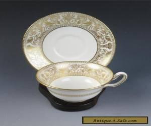 Wedgwood GOLD FLORENTINE CUP & SAUCER Porcelain England W4219 Dragons for Sale