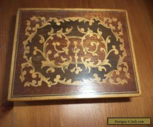 small inlaid vintage   wooden box for Sale