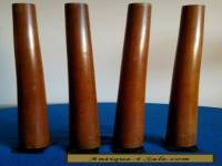 "Mid Century Modern Wood Furniture Legs With Original Hareware 20"" Set Of 4"