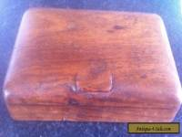 ANTIQUE / VINTAGE SOLID WOODEN BOX WITH TWO SECTION'S INSIDE.
