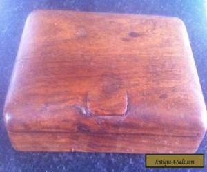 ANTIQUE / VINTAGE SOLID WOODEN BOX WITH TWO SECTION'S INSIDE.  for Sale