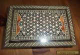 inlaid small wooden box for Sale