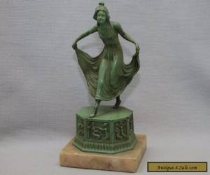 Art Deco Nouveau Frankart Nuart Girl Figure Bookend Statue for Sale