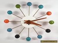VINTAGE GEORGE NELSON HOWARD MILLER MIDCENTURY MODERN BALL CLOCK ATOMIC RETRO